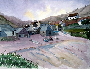 A Quiet Day at Cadgwith Cove, Cornwall
