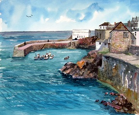 The Harbour at Coverack, Cornwall