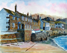 Evening Light On Mousehole, Cornwall