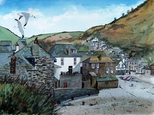 A Seagull's View of Port Isaac, Cornwall