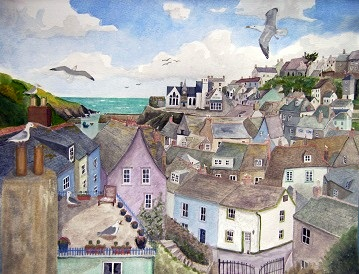 A Crow's Nest View of Port Isaac, Cornwall