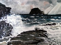 Storm Over Gull Rock, Trebarwith Strand, Cornwall