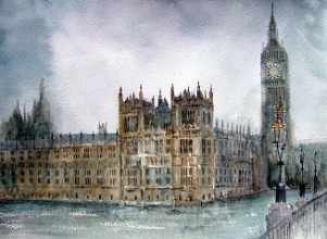 The Mists of Time - Westminster Palace, London